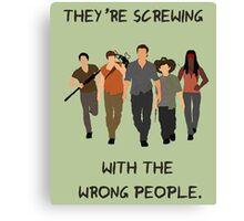The Walking Dead - Carl, Rick, Glenn, Daryl, Michonne Canvas Print