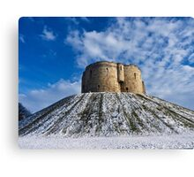 Clifford's Tower, York, in Winter Canvas Print