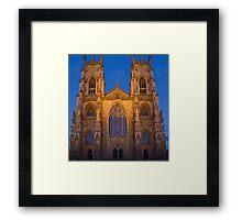 York Minster, England, at sunset Framed Print