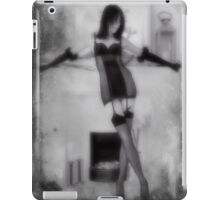 A fireside pose with textures iPad Case/Skin