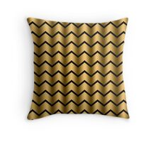 Chic Gold Chevron Pattern Throw Pillow