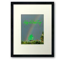 Happy St-Patrick Day ! Framed Print