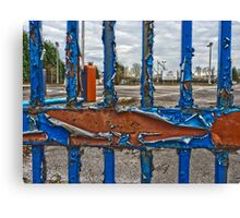 Entrance to the old gas works, Heworth, York, England Canvas Print