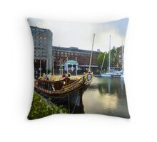 Golden Boat - Gloriana, The British Royal Barge Throw Pillow