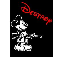 Destroy Mickey Photographic Print