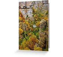 Old watermill in the heart of Chroussias canyon Greeting Card