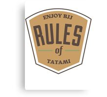 Rules of tatami Canvas Print