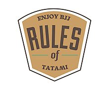 Rules of tatami Photographic Print