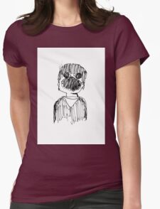 Screaming Child. Womens Fitted T-Shirt