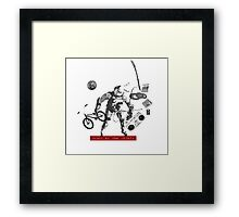 Fall of the Idiot Framed Print