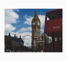 London: London eye, big ben and a red bus Kids Tee