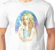 Alice and the Rabbit Unisex T-Shirt