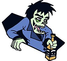 funny drunk zombi alcool bachelor Photographic Print