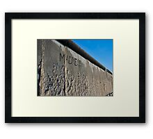 The Madness of Walls - Berlin Framed Print