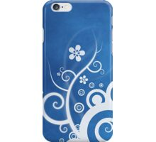 Blue White Floral Abstract iPhone Case/Skin
