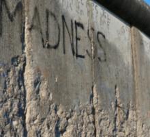 The Madness of Walls - Berlin Sticker