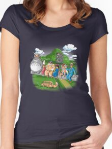 Ghibli workers Women's Fitted Scoop T-Shirt