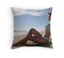oaxaca seascape Throw Pillow