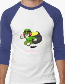Pixel Leprechaun Men's Baseball ¾ T-Shirt