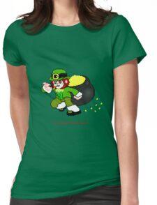 Pixel Leprechaun Womens Fitted T-Shirt