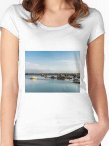 Boats and Wrecks (Île de Noirmoutiers -  Vendée, France) bis Women's Fitted Scoop T-Shirt