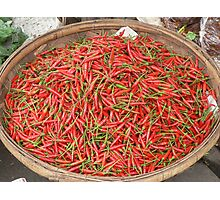 Chilis for sale in a market at Phnom Penh, Cambodia Photographic Print