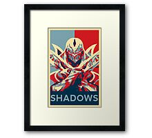 Zed - League of Legends - Master of Shadows Framed Print