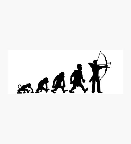 archery darwin evolution bow Photographic Print