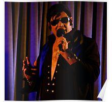 Garry as Elvis - square - ms- Singing  Poster