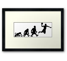 basket basketball darwin evolution Framed Print