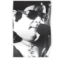 Garry as Elvis - B&W - cu - Singing  Poster