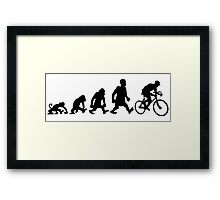 cyclist darwin cycling bike bicycle Framed Print