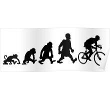 cyclist darwin cycling bike bicycle Poster