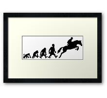 Show jumping evolution darwin horse  Framed Print