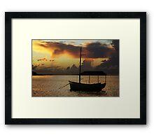 Boat Silhouette Framed Print