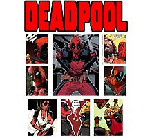 Deadpool Comic Strip Design Photographic Print