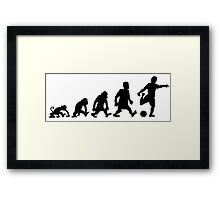 foot football soccer evolution darwin Framed Print
