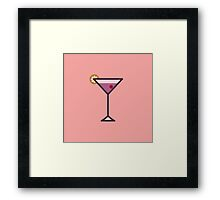 Cocktail Icon - Drinks Series Framed Print
