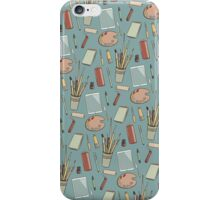 Art materials pattern iPhone Case/Skin