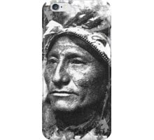 Vintage Native American Portrait In Black and White iPhone Case/Skin