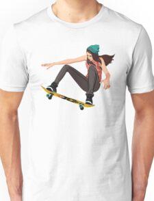 Skateboard chick  Unisex T-Shirt