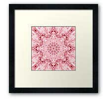 """Spirit of India: Fleur-SnowFlake"" in rose Framed Print"
