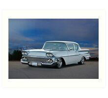 1958 Chevrolet Biscayne Art Print