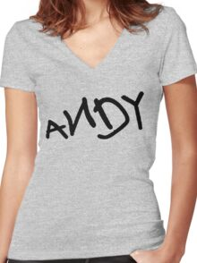 Andy - Toy Story Women's Fitted V-Neck T-Shirt