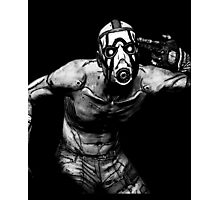 Borderlands - Psycho Black and White (2) Photographic Print