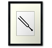 Tuning fork Framed Print