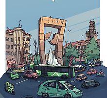 Plaza America sketch by carloscastro
