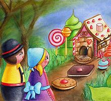 Kokeshis Hansel and Gretel by Pendientera