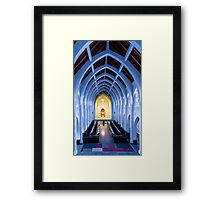 Arches and Altar Framed Print