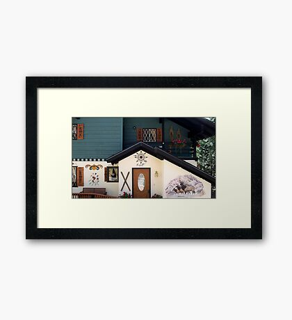 Behold this chalet ! Framed Print